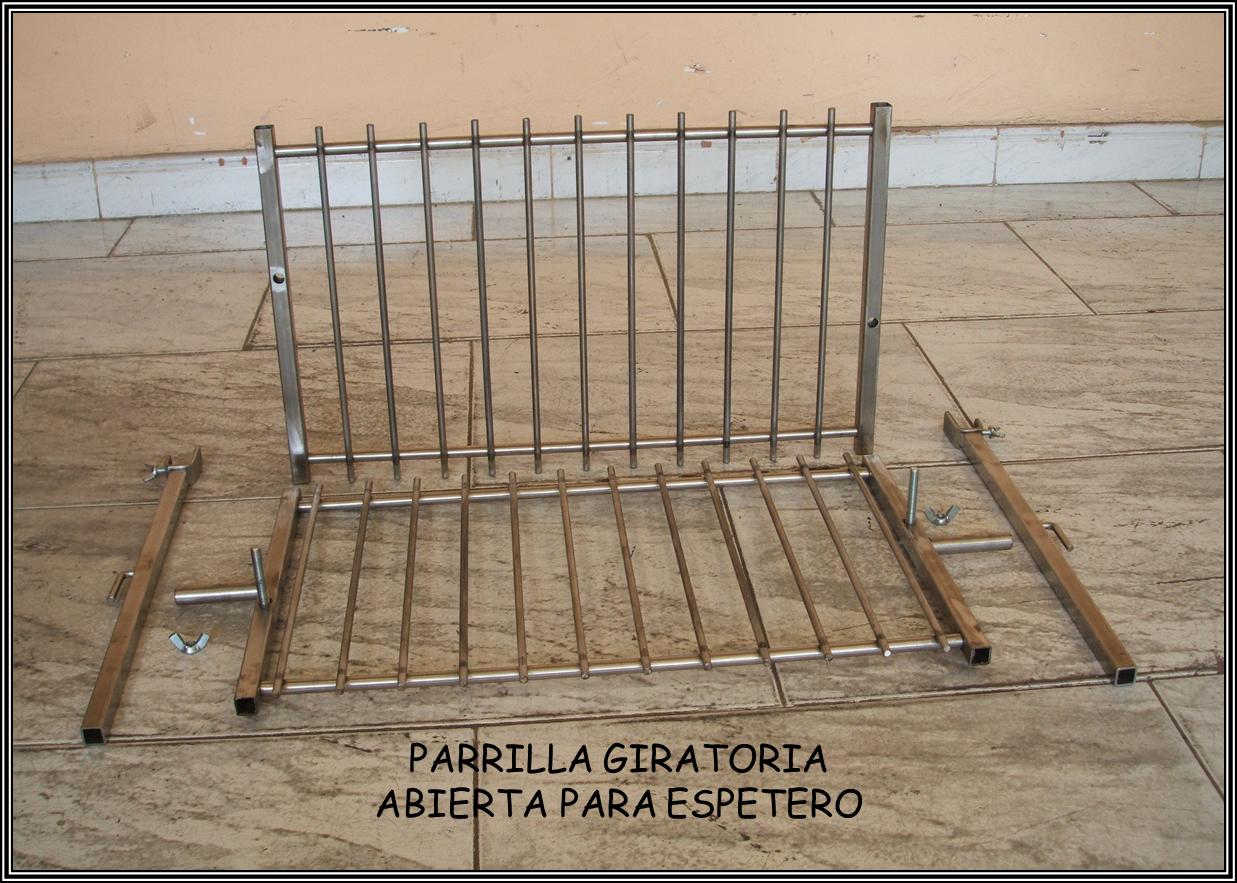 Chimeneas sierra parrilla giratoria para espetero de barbacoa - Accesorios barbacoas de obra ...