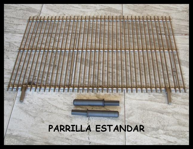 Fabricada en calibrado de acero inoxidable de 10 mm y de 6 mm