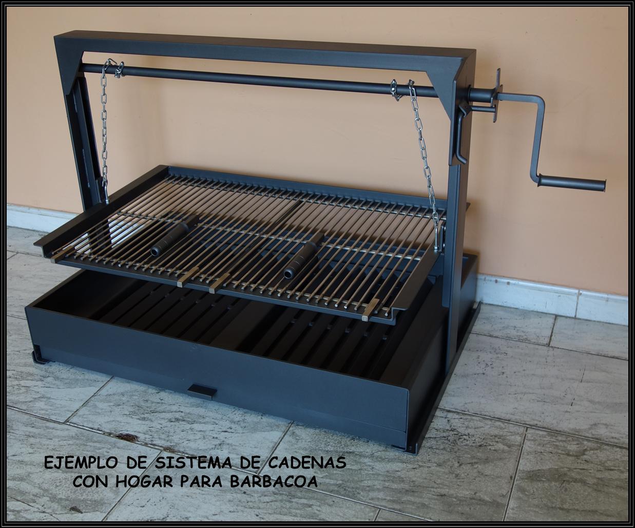 Chimeneas sierra sistema de cadenas con hogar y cajon - Parrillas de obra ...