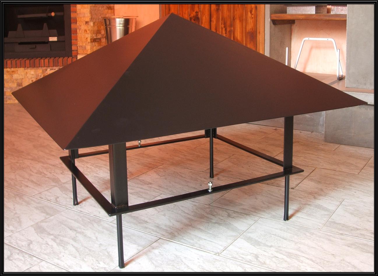 Chimeneas sierra tejado para ca on de obra for Tejados de madera para barbacoas