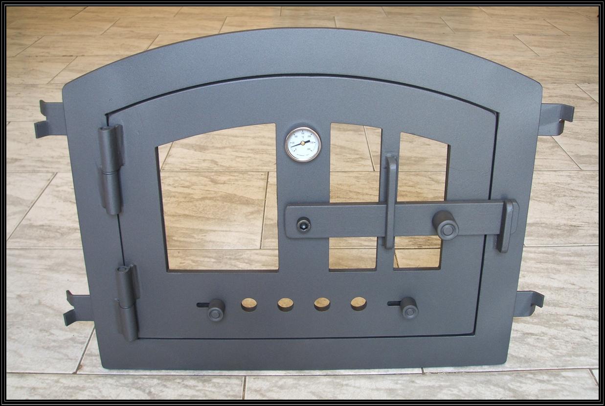 Chimeneas sierra puerta para horno de obra con cristal - Horno de lena con hornilla ...