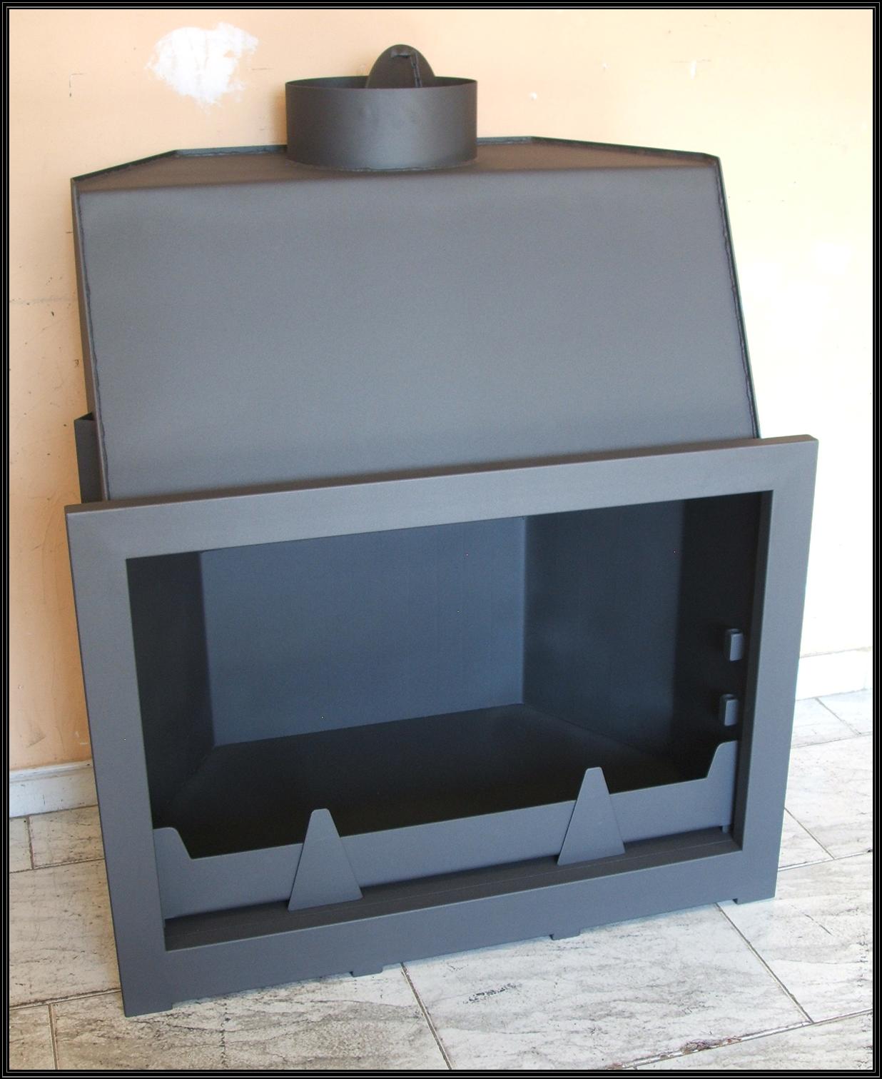 Ver ejemplo de chimenea modelo B con puerta de 1 y 2 Hojas