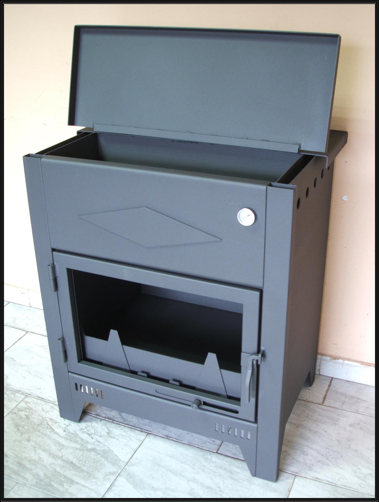 Chimeneas sierra estufa de acero modelo ht con horno de - Chimeneas de acero ...