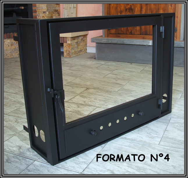 Chimeneas sierra puertas para chimenea con 2 caras - Puertas de vidrio para chimeneas ...