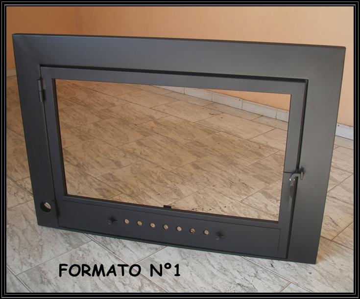 Chimeneas sierra puertas para chimenea con marco de perfil ancho - Puertas de vidrio para chimeneas ...