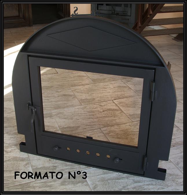 Chimeneas sierra puertas para chimenea con zocalo curvo en el marco - Puertas de vidrio para chimeneas ...