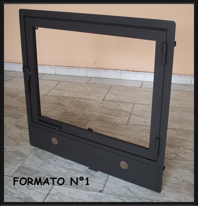 Chimeneas sierra puertas para chimenea con zocalos en el marco - Chimeneas con cristal ...